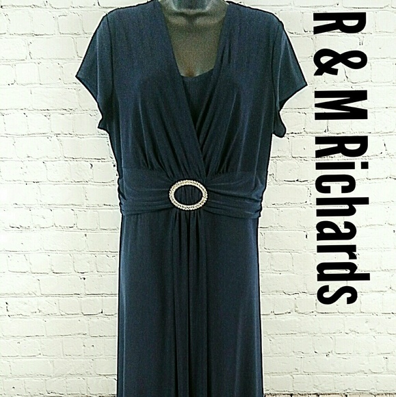 R & M Richards Dresses | R M Richards Dress Royal Blue Plus Size 18w ...